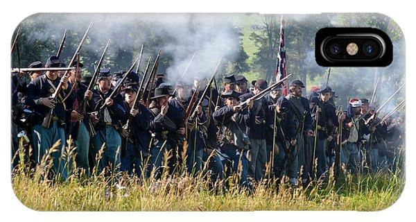 Gettysburg Union Infantry 9360c IPhone Case