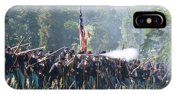 Gettysburg Union Infantry 9372c IPhone Case