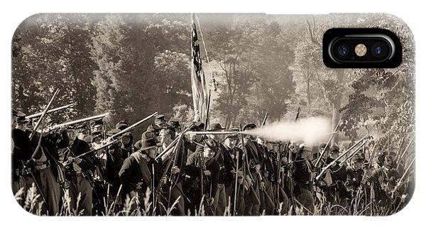 Gettysburg Union Infantry 9372s IPhone Case