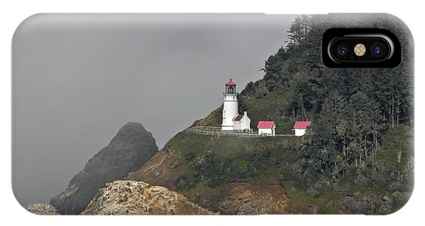 Heteca Head In Fog IPhone Case