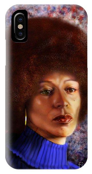 Impassable Me - Angela Davis1 IPhone Case