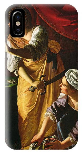 Women iPhone Case -  Judith And Maidservant With The Head Of Holofernes by Artemisia Gentileschi