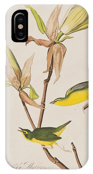 Warbler iPhone Case -  Kentucky Warbler by John James Audubon