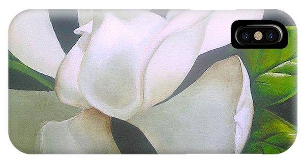 Magnolia Delight Painting IPhone Case