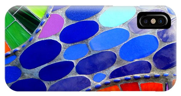 Mosaic Abstract Of The Blue Green Red Orange Stones IPhone Case