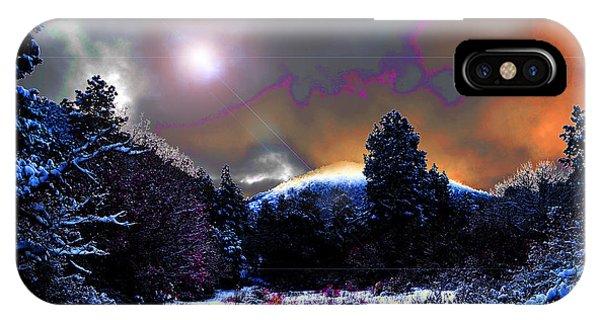 Moonrise On Kiva Mountain IPhone Case