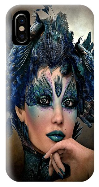 Blue Berry iPhone Case -  Mrs Peacock 2 by G Berry