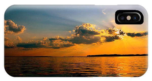 IPhone Case featuring the photograph  Perfect Ending To A Perfect Day by Lisa Wooten