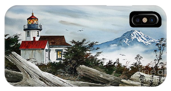 Point Robinson Lighthouse And Mt. Rainier IPhone Case