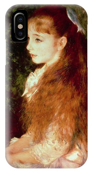 Sister iPhone Case -  Portrait Of Mademoiselle Irene Cahen D'anvers by Pierre Auguste Renoir