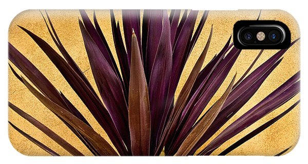 Desert iPhone Case -  Purple Giant Dracaena Santa Fe by John Hansen