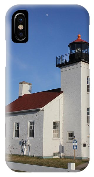 Sand Point Lighthouse Escanaba IPhone Case