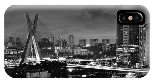 Sao Paulo Iconic Skyline - Cable-stayed Bridge - Ponte Estaiada IPhone Case