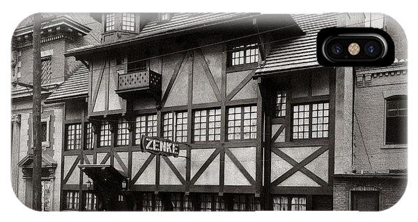 Scranton Pa Zenke's Alt Heidelberg Restaurant Early 1900s IPhone Case