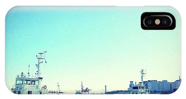 #船 #海 #ships #sea #sky Phone Case by Bow Sanpo