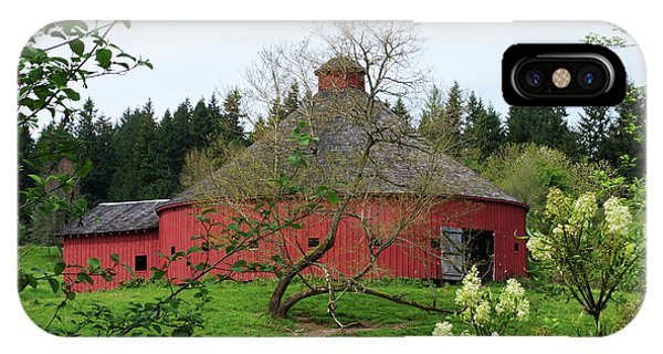 Spring At The Round Barn IPhone Case