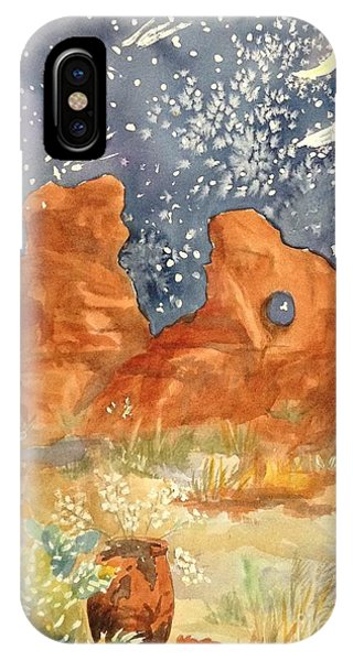 Starry Night In The Desert IPhone Case