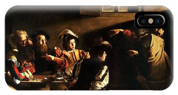 IPhone Case featuring the painting  The Calling Of Saint Matthew by Caravaggio