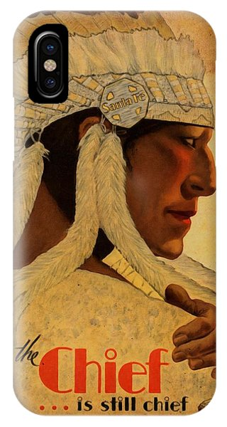 The Chief Train - Vintage Poster Vintagelized IPhone Case