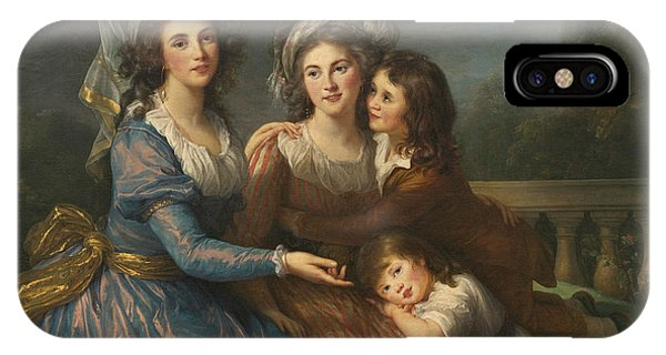 French Painter iPhone Case -  The Marquise De Pezay, And The Marquise De Rouge With Her Sons by Louise Elisabeth Vigee Le Brun