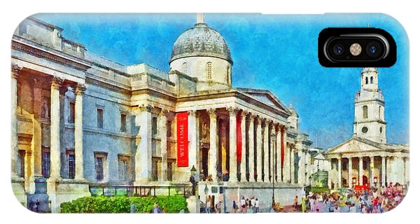 The National Gallery And St Martin In The Fields Church IPhone Case