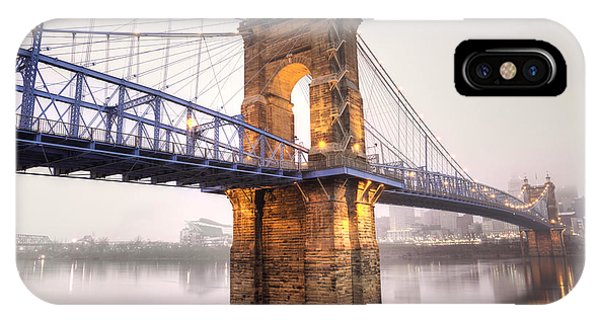 The Roebling Bridge IPhone Case