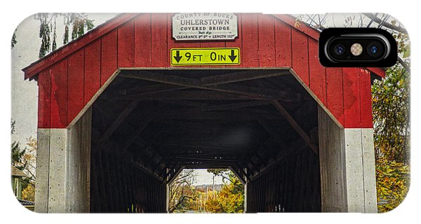 Uhlerstown Covered Bridge Iv IPhone Case