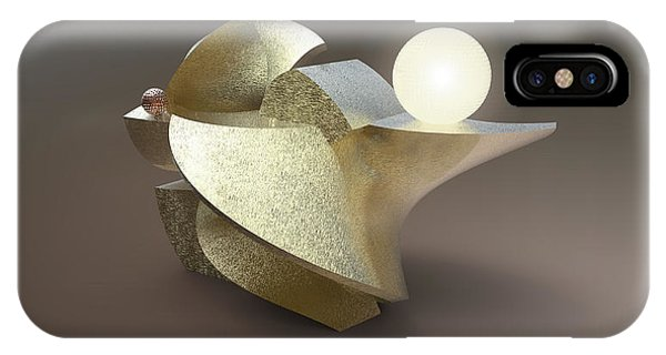 ' Wavy Cut Sculpture Light ' IPhone Case