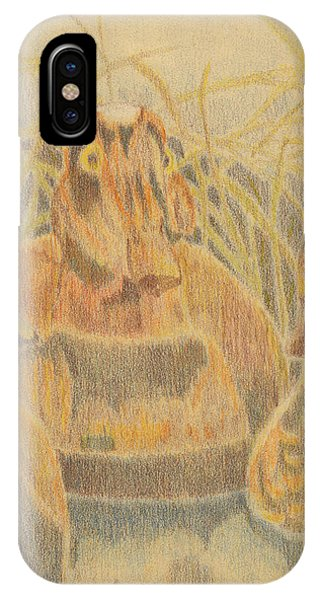 IPhone Case featuring the drawing  Wooden Duck Decoys by Jason Girard