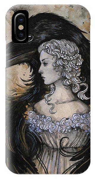 Raven iPhone Case - Guardian by Caroline Jamhour