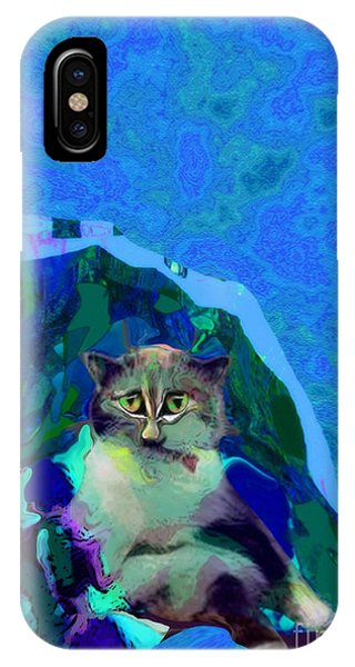 007 The Under Covers Cat IPhone Case