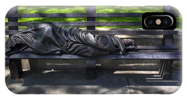 02 Homeless Jesus By Timothy P Schmalz IPhone Case