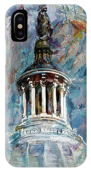 Capitol iPhone Case - 063 United States Capitol Dome by Maryam Mughal
