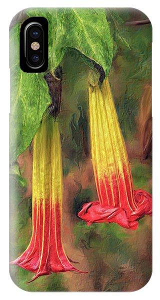Floripondia Blossoms IPhone Case