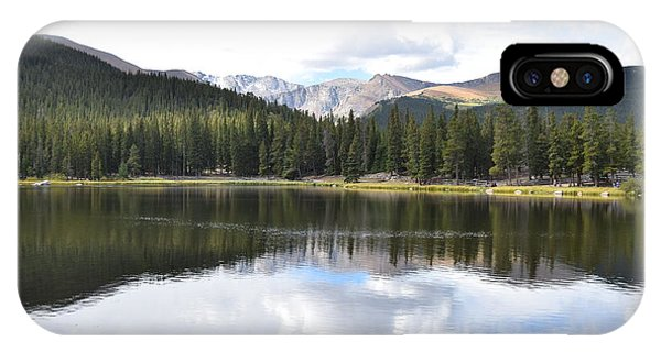 IPhone Case featuring the photograph Echo Lake Reflection Mnt Evans Co by Margarethe Binkley