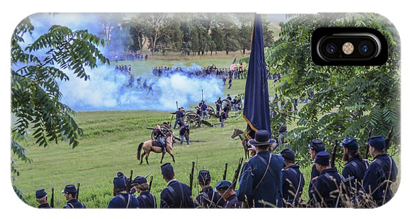 Gettysburg Union Artillery And Infantry 7457c IPhone Case