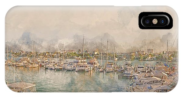 10879 Clearwater Marina IPhone Case