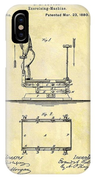 1880 Exercise Machine Patent IPhone Case