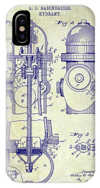 1903 Fire Hydrant Patent IPhone Case