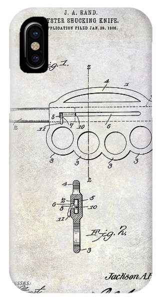 1906 Oyster Shucking Knife Patent IPhone Case