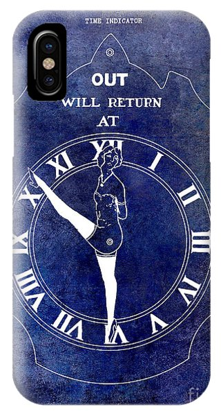 Rockettes iPhone Case - 1928 Time Indicator Patent Blue by Jon Neidert