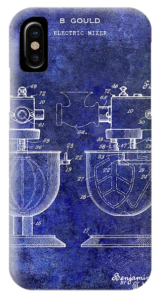 1930 Electric Mixer Patent Blue IPhone Case