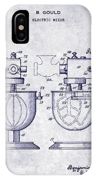 1930 Electric Mixer Patent Blueprint IPhone Case