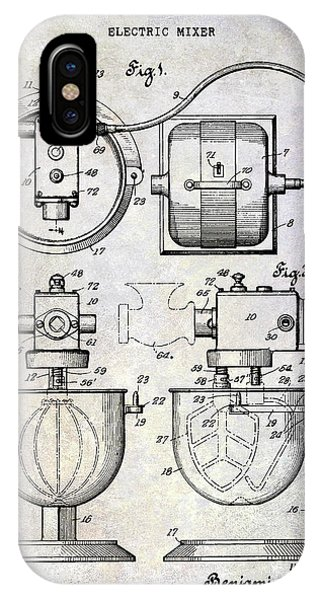 1930 Electric Mixer Patent IPhone Case