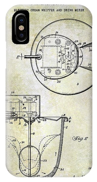 1933 Electric Cream Whipper Patent IPhone Case