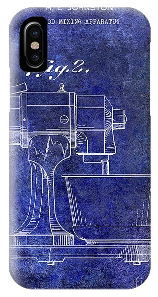 1935 Food Mixing Apparatus Patent Blue IPhone Case