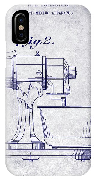 1935 Food Mixing Apparatus Patent Blueprint IPhone Case
