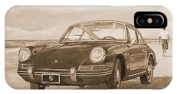 1967 Porsche 912 In Sepia IPhone Case