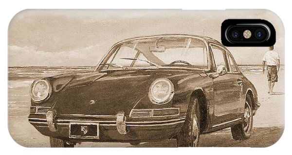 1967 Porsche 912 In Sepia IPhone Case