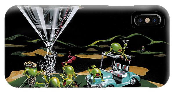Cart iPhone Case - 19th Hole by Michael Godard